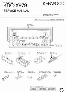 Kenwood Cd Receiver Kdc-x879 Service Manual