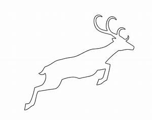 best photos of christmas reindeer templates reindeer With reindeer template cut out