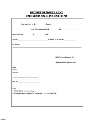 22 printable landlord rent receipt template forms