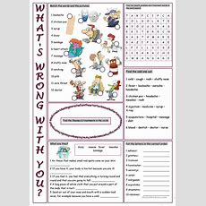 What's Wrong With You? (vocabulary Exercises) Worksheet  Free Esl Printable Worksheets Made By