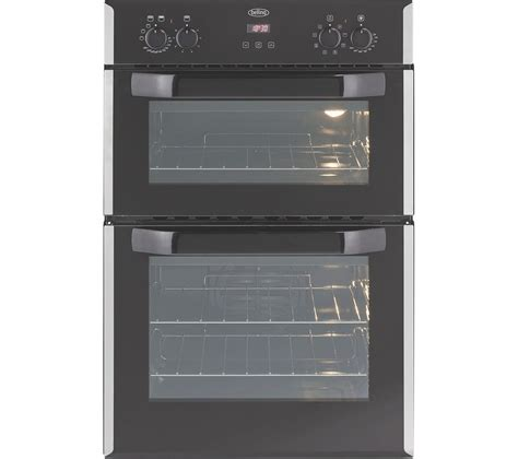buy belling biefr electric double oven stainless steel  delivery currys