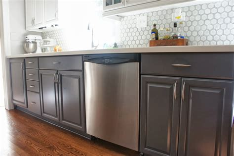 painted gray kitchen cabinets remodelaholic gray and white kitchen makeover with