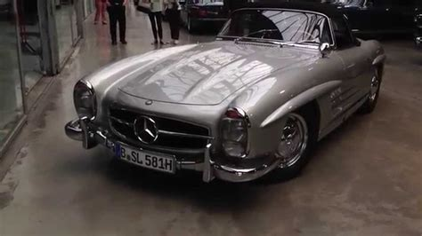 Old Mercedes Benz Driven With Engine Sounds, At Classic