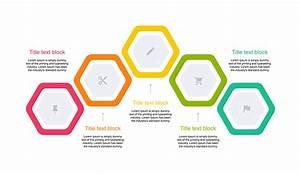 Hexagon Diagram 5 Step For Keynote
