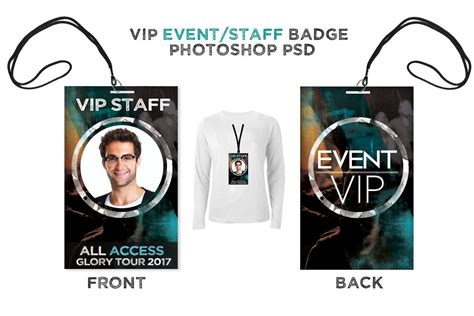 Staff Badge Template by Vip Backstage Pass Christian Graphic Design Vip Pass