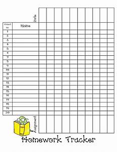 homework tracker sheet blogpdf back to school With tracking sheet template for teachers