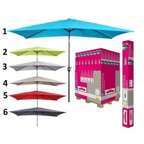 Parasol Pas Cher Inclinable by Parasol Rectangulaire Inclinable Achat Vente Parasol