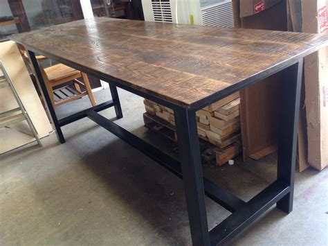iron legs rustic industrial bar height table yelp