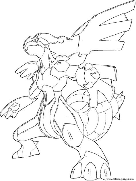 zekrom trio yin  qi generation  coloring pages printable