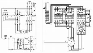 Star Delta Starter Simple Circuit Diagram