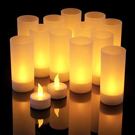 le lot de 6 bougies led photophore avec piles bougies