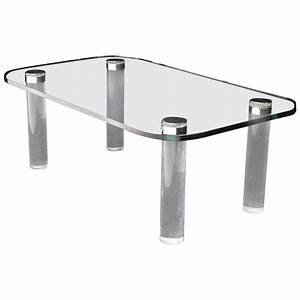 glasstop lucite legs coffee table for sale at 1stdibs With lucite coffee table legs