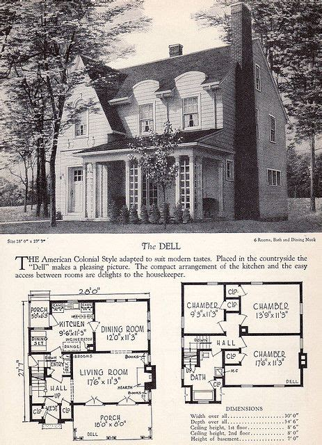 home builders catalog  dell vintage house plans house plans home builders