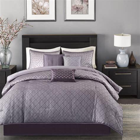 beautiful 7 pc modern chic elegant purple plum grey