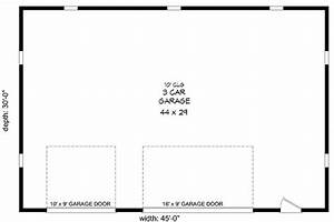 3-car Garage With Hip Roof
