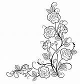 Outlines Pngkey Bordes Mawar Bunga Bordar Broderie Dentelle Fleurs Blumenschablonen Gambar Kindpng Tatouage Henné sketch template