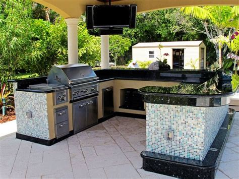 outdoor kitchen tile tile and stainless steel covered patio kitchen 1309