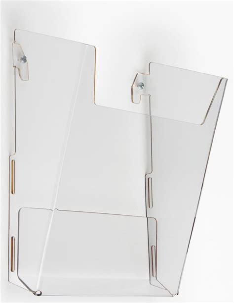 plastic magazine holders wall mount single pocket acrylic brochure rack laser cut 1545