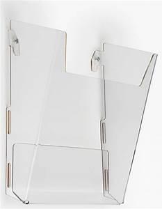 wall mount single pocket acrylic brochure rack laser cut With plastic wall document holder