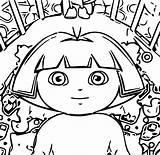 Coloring Dora Diaper Change Wecoloringpage sketch template