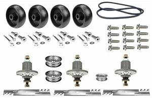 Rebuild Deck Kit Oem 48 U0026quot  Deck  K43a For John Deere 145