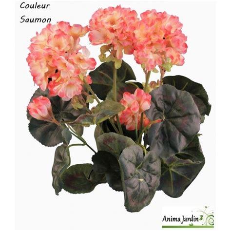 pot de g 233 raniums artificiels fleur artificielle d 233 co jardin pas cher