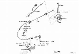 2003 Toyota Sequoia Cable Assembly  Transmission Control
