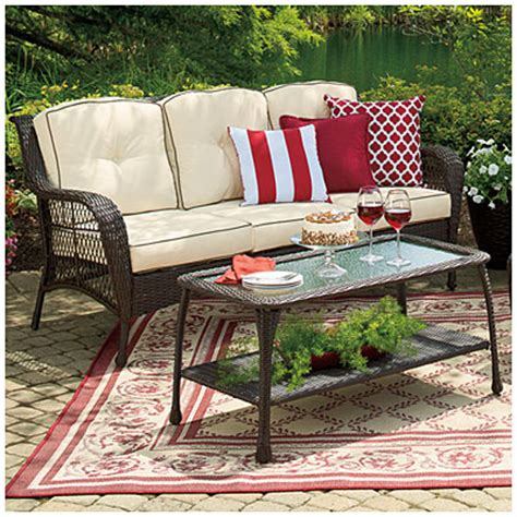 wilson fisher patio furniture view wilson fisher 174 barcelona resin wicker cushioned