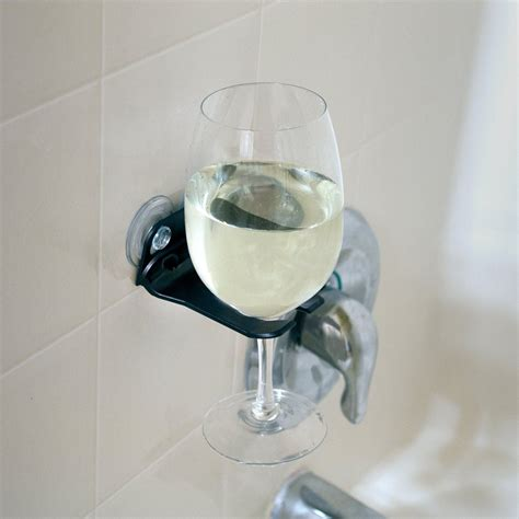bathtub wine glass holder bathtub wine glass holder suction cups by wavehooks 5