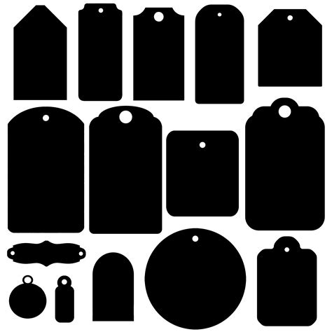 Almost files can be used for commercial. Tag Shapes - a digital scrapbooking tags embellishment ...