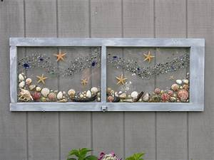 Under the seasea shells beach glass and starfish for Kitchen cabinets lowes with seashell wall art craft