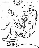 Coloring Pages Astronaut Space Printable Cool2bkids Colouring Sheets sketch template