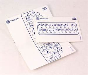 Fuse Card Diagram Key 04-06 Vw Phaeton