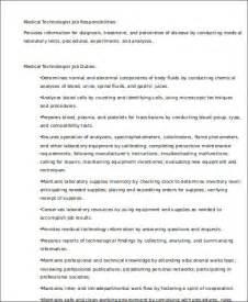 sle technologist resume 8 exles in word pdf