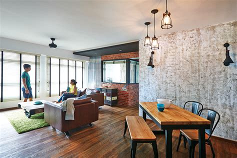 Home Design Ideas For Hdb Flats by This New York Inspired 5 Room Hdb Flat Oozes Industrial