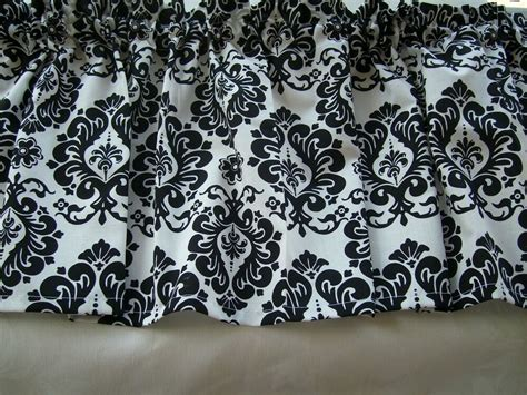 Black And White Valance by Valance Black And White Floral Damask Ebay