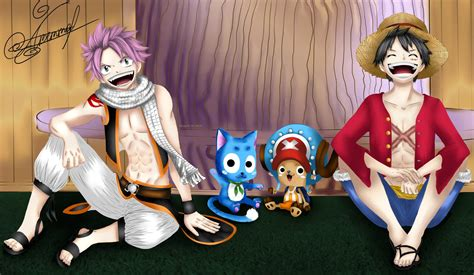 Fairy Tail And One Piece By Alexandraavetta On