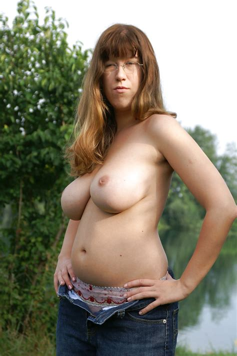 sexy busty milf strips by the lake 32 pics