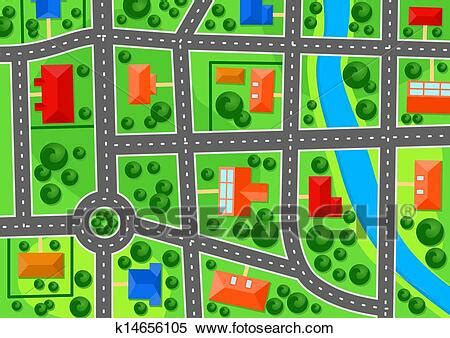 map  suburb town clipart  fotosearch