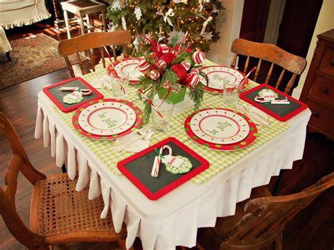 create  festive holiday kids table hgtv
