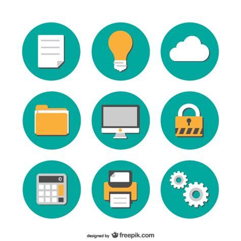 icone de bureau icônes de bureau plates collection de télécharger des