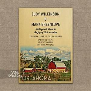 oklahoma wedding invitation country farm barn printed With wedding invitations okc