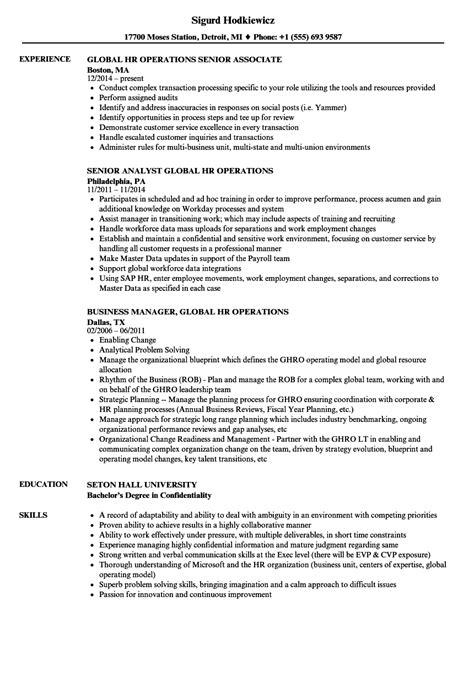 Global Hr Operations Resume Samples  Velvet Jobs. Federal Resumes Samples. Resume For Loan Officer. Senior Consultant Resume. Food Service Resume Samples. Driller Resume Example. Resume Builder On Microsoft Word. Complete Resume. Some Skills To Put On A Resume