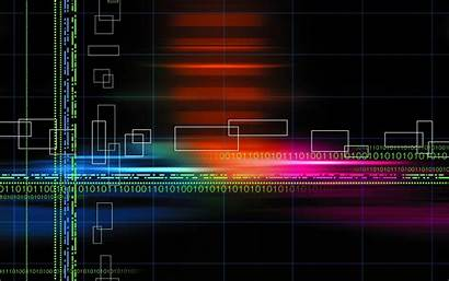 Background Binary Abstract Wallpapers Rainbow Neon Designs