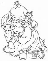Coloring Pages Diaper Precious Moments Changing 為孩子�的�色頁 sketch template