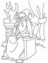 Wizard Coloring Pages Emerald Thinking Printable Adults Wizard101 Oz Getcolorings Surfboard Parlor Library Clipart Excellent sketch template