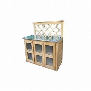 best mobilier de jardin en zinc pictures awesome With meuble cuisine bois et zinc