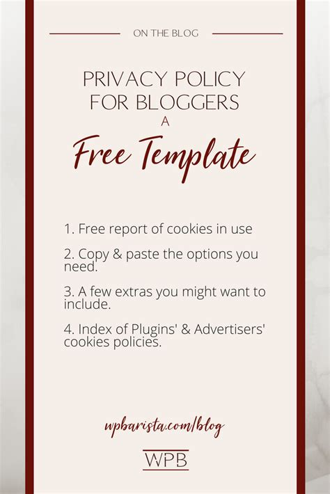 complete template   bloggers privacy policy