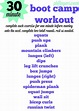 30 Minute Boot Camp Workout - Peanut Butter Fingers