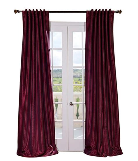 magenta vintage textured faux dupioni silk curtains drapes